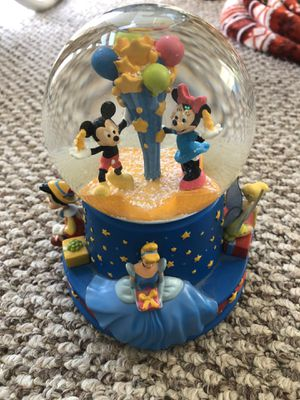 Disney Mickey, Minnie Mouse, Cinderella Musical Snowglobe Birthday for Sale in Washington, DC