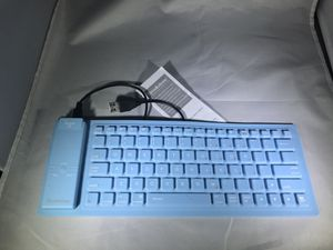 BROOKSTONE BLUETOOTH ROLL UP KEYBOARD MODEL #682369 BLUE for Sale in Tampa, FL