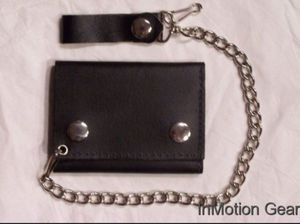 Biker leather wallet with chain for Sale in La Habra, CA