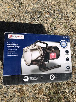 UtiliTech Portable Lawn Sprinkler Pump 1 HP for Sale in Murrieta, CA