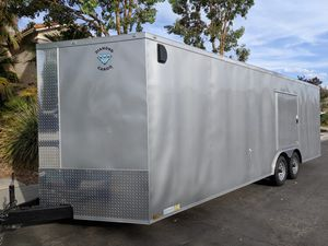 Cargo Trailer w/ Escape Door (24 ft. Car Hauler Silver Frost Enclosed Trailer) for Sale in Las Vegas, NV