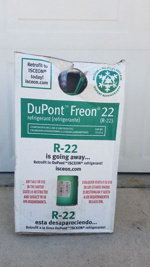 R=22 freon container for Sale in Moreno Valley, CA