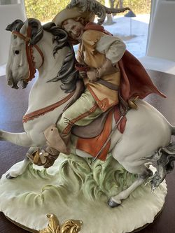 "Antique Italian porcelain statue, Giuseppe Cappe's ""Moschettiere a Cavallo"" (Musketeer on horseback) for Sale in Philadelphia,  PA"