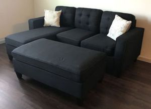 New Small Sectional with ottoman !! $399 for Sale in Coronado, CA