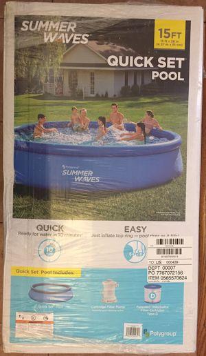 15 Foot Pool - Summer Waves for Sale in Beltsville, MD