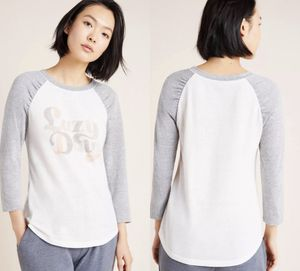 NWT $58 Anthropologie White Alice Loro Baseball Tee S for Sale in Norcross, GA