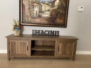 """Farmhouse rustic tv stand credenza console vanity entryway entry table 70"""" x16""""x24"""" tall for Sale in Peoria, AZ"""