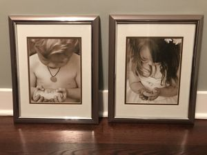Silver frames with matted black and white art-beautiful set! for Sale in Chicago, IL