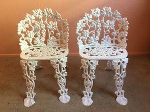 2 Vintage Iron Chairs (Read Description) for Sale in Phoenix, AZ