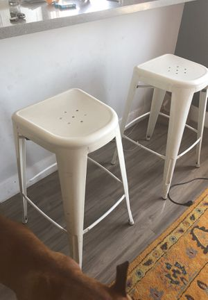 2 white bar stools for Sale in Los Angeles, CA