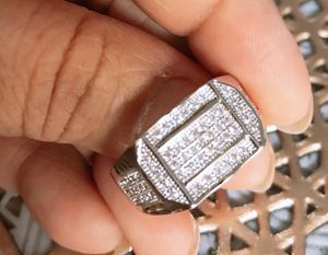 Men's 925 starling silver diamond wadding engagement rings sizes 9&12 for Sale in Moreno Valley, CA