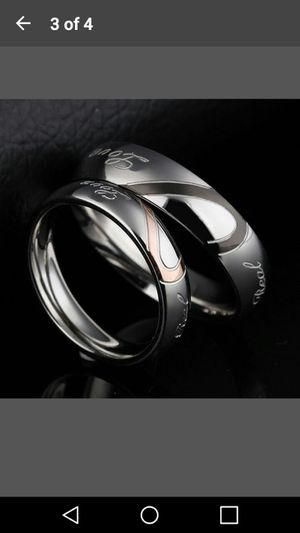 Stainless Steel HIS/HERS Wedding bands. BRAND NEW! for Sale in Knoxville, TN