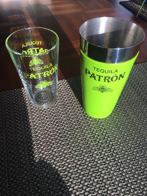 Patrón Tequila Bar Shaker w/ matching Patrón pint Glass for Sale in San Diego, CA