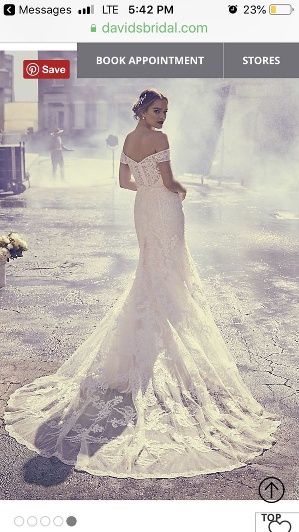 Wedding dress from David's Bridal. Brand new