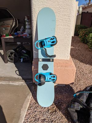 Women's Snowboard Package - DC Snowboard, Burton Boots Size 8, and Travel Bag for Sale in Phoenix, AZ