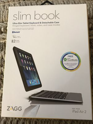 Zagg slim book for iPad Air 2 for Sale in Alexandria, VA