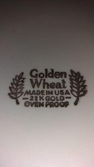 Original Golden Wheat 22k Gold Dinner plates for Sale in Little Rock, AR