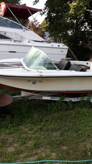 Boat for parts or fix with trailer does not need much work at all for Sale in Warwick, RI