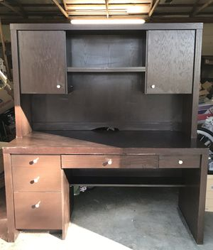 Espresso Desk with Hutch - Sturdy! for Sale in Goshen, KY