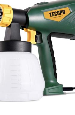 Paint Sprayer, TECCPO 600 Watts Up to 100DIN-s, 4 Nozzles sizes & 3 Spray Patterns, High Power HVLP Electric Spray Gun with 1300ml Detachable Containe for Sale in Montebello,  CA