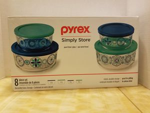 Pyrex Simply Store Glass Containers 8 Piece for Sale in Modesto, CA