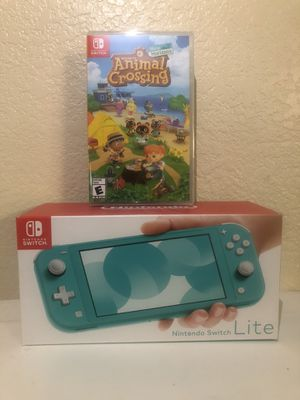 Nintendo Switch Lite Turquoise w/ Animal Crossing (Sealed) for Sale in Ontario, CA