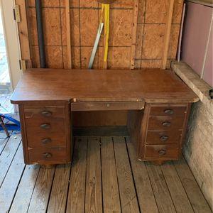 Solid Oak Heavy Antique Desk for Sale in Houston, TX