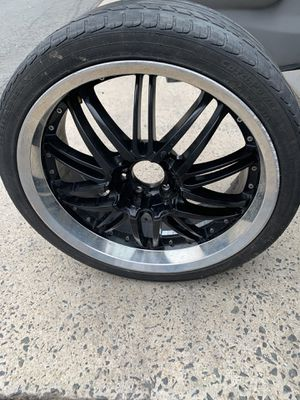 I have 4 rims 20 ..5 lugs I ask for 350 but I will sale for 300 also I have some nuts I don't have the cap cuz I buy it like how look in the pic for Sale in Alexandria, VA