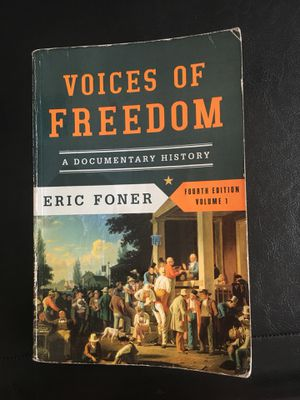 Voices of freedom 4th edition by Eric Foner for Sale in Sanger, CA