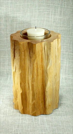 """Solid Wood Candleholder (candle included) 8""""x5"""" *PICKUP ONLY* home decor, household for Sale in Mesa, AZ"""