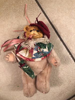 Collectible porcelain head jointed teddy bear for Sale in Las Vegas, NV