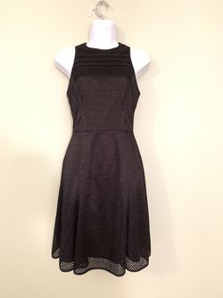 Banana Republic black sleeveless dress Mesh Size 0 Fit and flare for Sale in Franklin,  TN