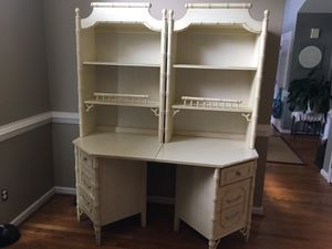 Beautiful French Provincial desk with hutch for Sale in Garner, NC
