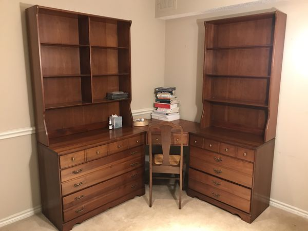 Bedroom Set: 3 dressers 2 bookshelves and desk with chair