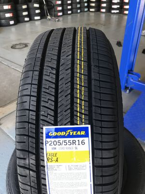 205/55/16 New set of Goodyear tires installed for Sale in Rancho Cucamonga, CA