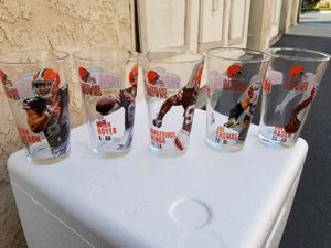 NFL CLEVELAND BROWNS COLLECTABLE GLASSES for Sale in Oceanside, CA