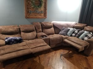 Suede Sectional for Sale in Berwyn, IL
