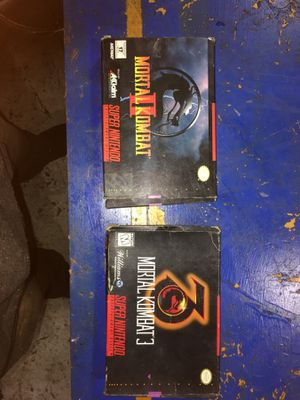 Mortal kombat 2 and 3 Super Nintendo for Sale in Berkeley, CA