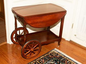 Vintage Mahogany Serving Cart for Sale in Atlanta, GA
