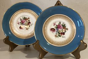 2 Antique early Coalport Cabinet Plates Dishes for Sale in Miami, FL