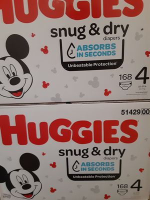 Huggies snug and dry size 4 168 diapers $35 EACH box for Sale in Los Angeles, CA