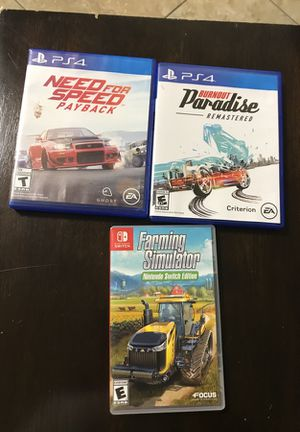 PS4 games, 1 Nintendo switch for Sale in Nashville, TN