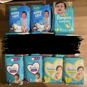 Pampers diapers $6 each Size 5 And 4t-5t for Sale in Commerce, CA