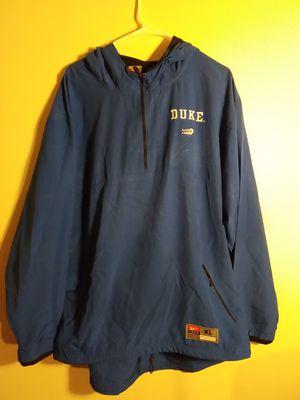 Men's Blue pullover windbreaker hoodie Duke Nike lacrosse size XL for Sale in Takoma Park, MD