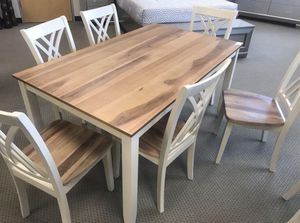 "New 7-PC Rustic Breakfast Kitchen Dining Table Set ""FIRE SALE"" for Sale in Missouri City, TX"
