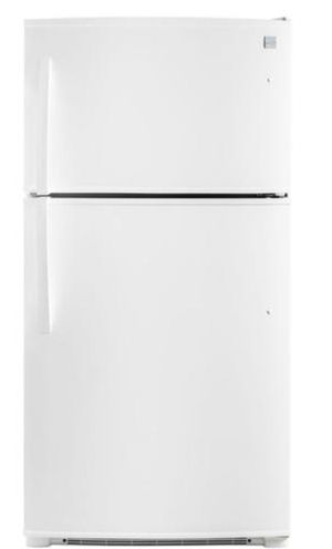 Used-Kenmore 61212 21 cu. ft. Energy Star Top-Freezer Fridge - White for Sale in Bellflower, CA