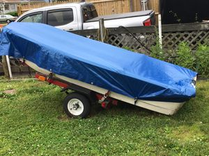 9.6' Bass Tender boat, trailer, & trolling motor for Sale in West Haven, CT