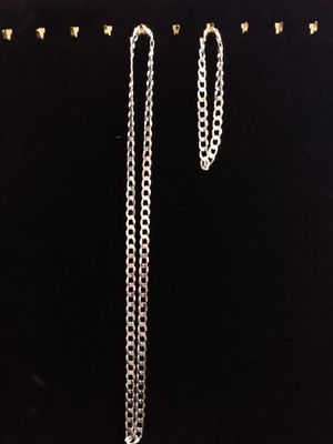 925 Sterling Silver curb chain for Sale in San Antonio, TX