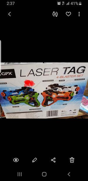 GPX Laser Tag 4 Blaster Set for Sale in San Antonio, TX