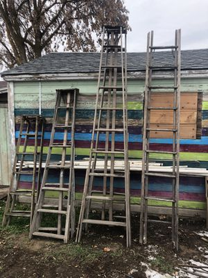 Wood orchard ladders for Sale in Wenatchee, WA